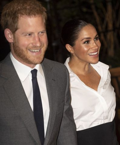 Prince Harry, Duke of Sussex and Meghan, Duchess of Sussex attend the Endeavour Fund awards at Drapers' Hall on February 7, 2019 in London, England