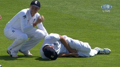 Cook struck in groin