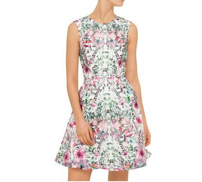 Melbourne Cup mini. Let everyone appreciate your fake tan with this floral fresh number. Look for accessories with pink accents and perhaps pack a cardigan because... Melbourne.