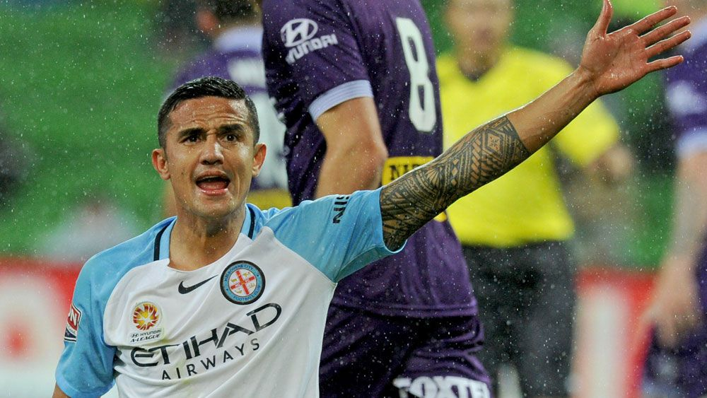 Tim Cahill and Melbourne City have been afforded a home final in the FFA Cup. (AAP)
