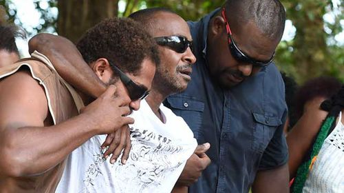 Father of slain Cairns children inconsolable at scene of tragedy