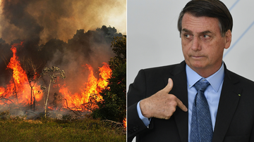 Brazil's far-right president has blamed environmental groups for lighting wildfires that have ripped through the Amazon for the past three weeks, saying they are trying to make him look bad.
