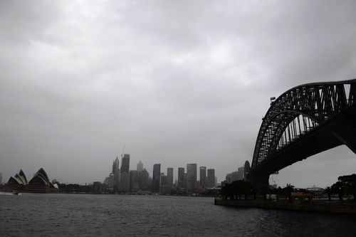 Further showers are set to fall on Sydney overnight.