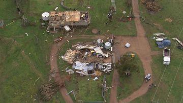 Damage caused by a tornado.