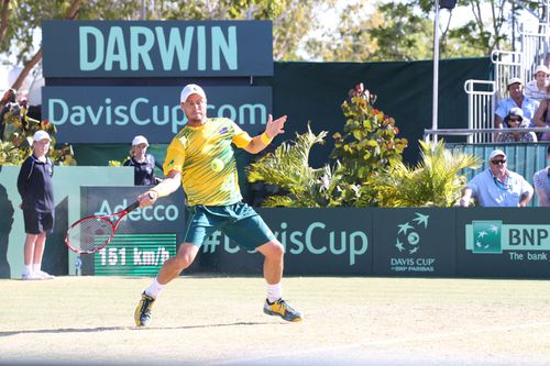 The new $16m tennis court in Darwin had plans for international tournaments. But those dreams have been halted thanks to its wonky court.