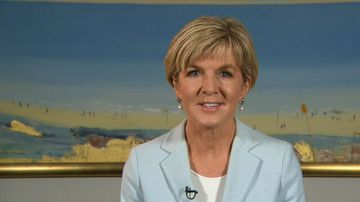 Julie Bishop remains mum when questioned about PM job