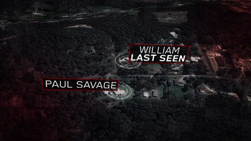 Mr Savage lived next door to the property where William vanished .