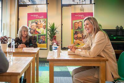 Queen Maxima visits volunteer organisation House of Hope, June 2020