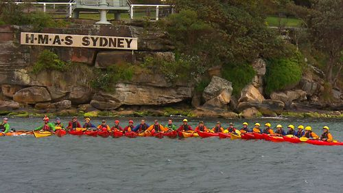 China's People's Liberation Army was on Sydney Harbour for a military exercise