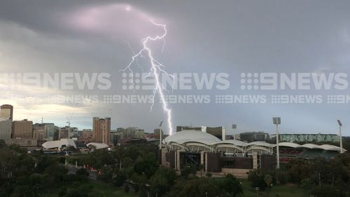 A summer storm has swept across South Australia.