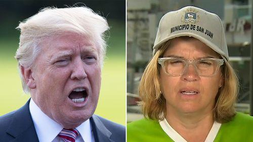 Mr Trump has clashed with San Juan mayor Carmen Yulin Cruz. (AP/CNN)