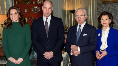 The Duke and Duchess of Cambridge begin their tour of Sweden and Norway.