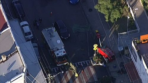 A teenager hit by the car has been taken to hospital. (9NEWS)