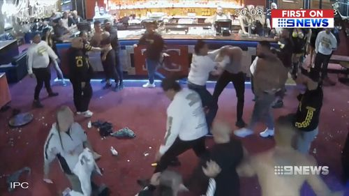 Multiple members of outlaw bikie gangs were involved in the affray, with one man knocked unconscious. Picture: Supplied.