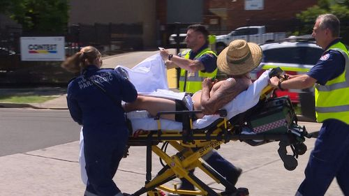 One man was taken to Liverpool Hospital after the incident in Sydney's Moorebank.