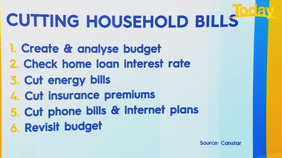 Six steps to cutting household bills.