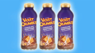 Chocoholics lose it over mysterious Violet Crumble milk image