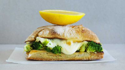"""Recipe:<a href=""""http://kitchen.nine.com.au/2017/05/10/11/22/pork-and-mushroom-meatball-subs"""" target=""""_top"""" draggable=""""false"""">The Dolphin Hotel's forza scamorza toasted sandwich</a>"""