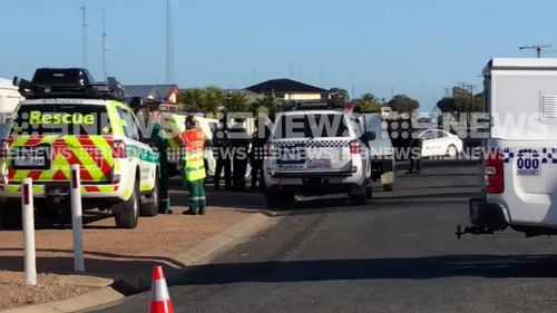 A police operation is underway to find a man who shot at police. Picture: 9NEWS