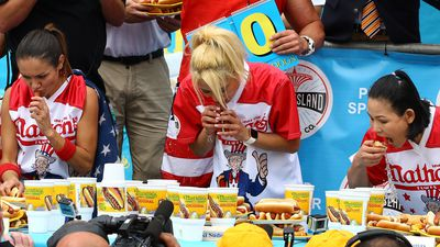 Competitive hotdog eating is taken very seriously with top athletes earning around $200,000 from prize money and sponsorship.