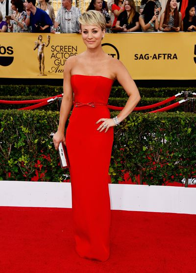 Kaley Cuoco-Sweeting attends the 21st Annual Screen Actors Guild Awards at The Shrine Auditorium on January 25, 2015