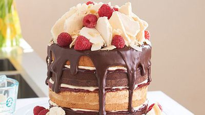 <strong>Katherine Sabbath's layered lamington sponge cake</strong>