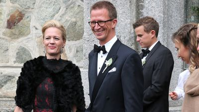 The royals turn out for the wedding of Prince Konstantin of Bavaria kisses his wife Princess Deniz of Bavaria