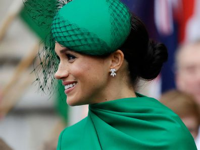 Meghan, the Duchess of Sussex leaves after attending the annual Commonwealth Day service at Westminster Abbey in London. (Photo: March 2020)