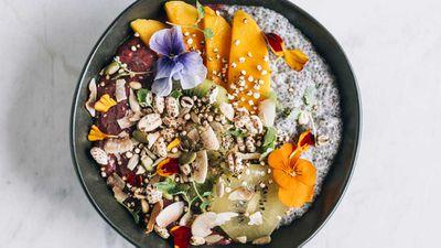 "Recipe: <a href=""http://kitchen.nine.com.au/2018/02/15/14/46/acai-bowl-recipe"" target=""_top"" draggable=""false"">Acai bowl</a>"