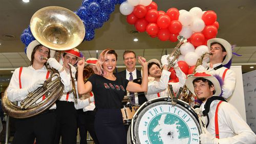 Dannii Minogue attended this morning's launch. (Getty Images)