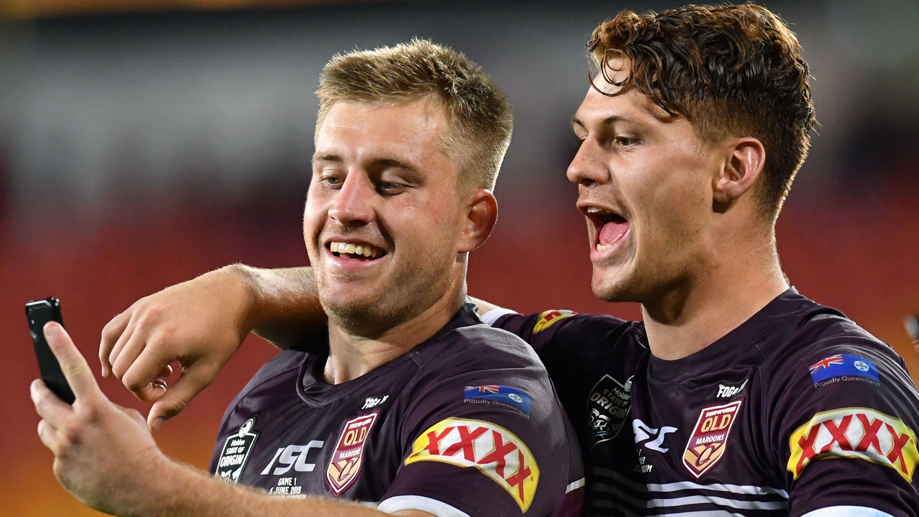 Cameron Munster and Kalyn Ponga.