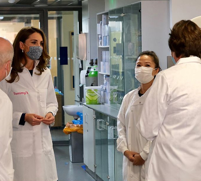 Kate Middleton wears a lab coat for Baby Loss Awareness Week