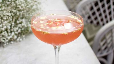 "Recipe: <a href=""http://kitchen.nine.com.au/2017/01/06/15/12/frose-luxe-cocktail-with-gold-leaf"" target=""_top"">Strawberry and lychee fros&eacute; luxe with gold leaf</a>"