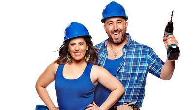 Sarah and George competing on the 2020 season of The Block.