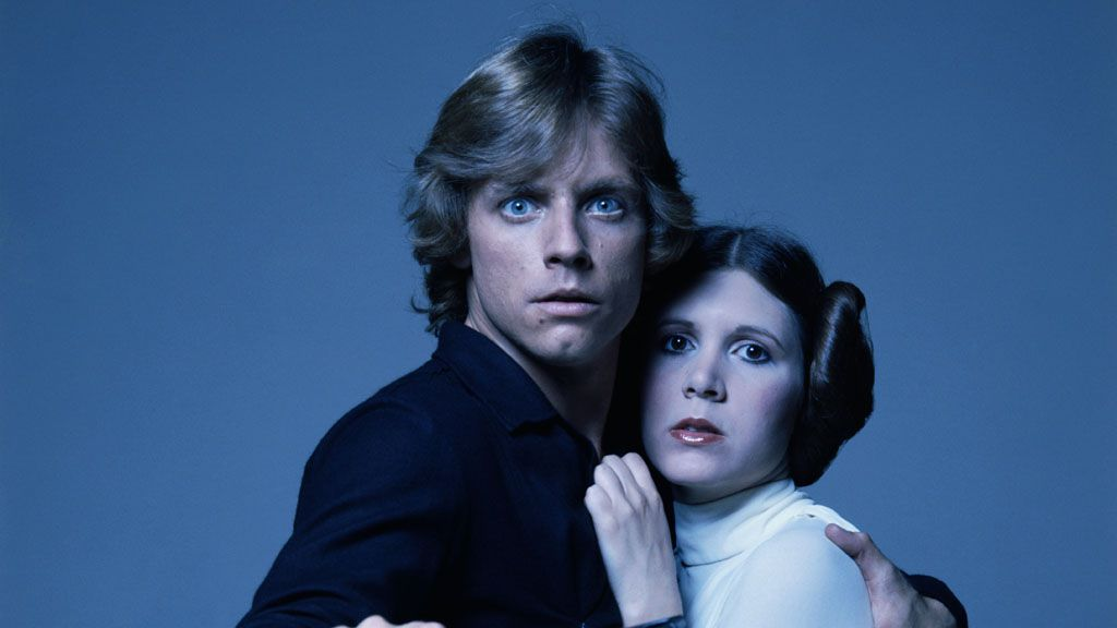 Mark Hamill and Carrie Fischer - Star Wars legends both. Image: Getty.