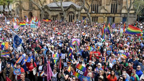 Pro-marriage equality rallies have attracted crowds of thousands.