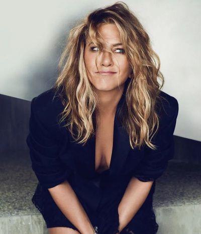 <p>Jennifer Aniston forUS <em>InStyle,</em> September 2018</p> <p>The actress wearsAlexander McQueen jacket and Chopard bracelets.</p>