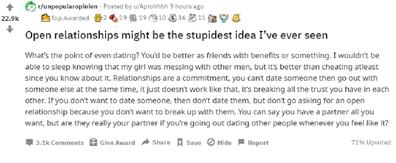 Open relationships debate