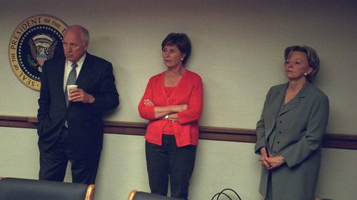 Former Vice-President Dick Cheney with wife Lyn Cheney (far right) and former First Lady Laura Bush. (US National Archives)