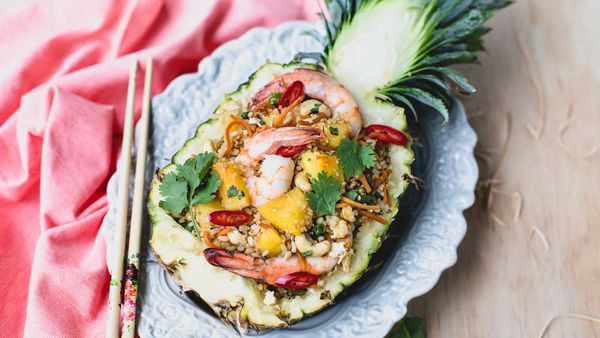 Pineapple quinoa fried rice