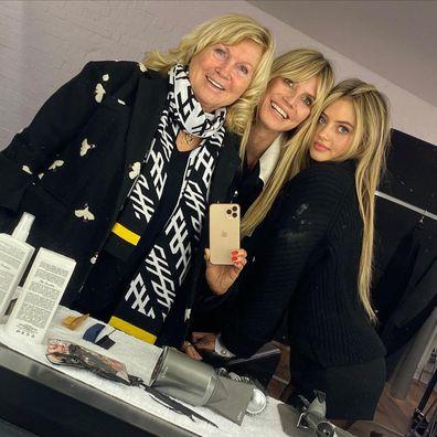 Heidi Klum, her mum Erna Klum and daughter Leni Klum (Helene Boshoven Samuel)