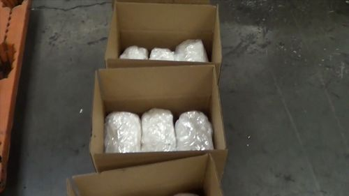 Police said the drugs carried a street value of $1.29 billion.