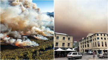 Two homes have been confirmed destroyed by fires burning across Tasmania.