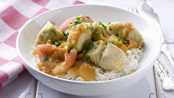 Fish stew with tomatoes and rice