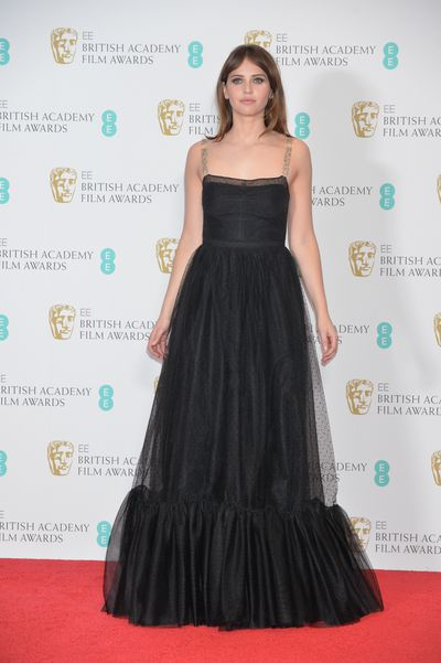 Felicity Jones - in a classic chiffon gown by Christian Dior.