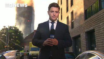 9NEWS reporter Seb Costello live at the scene
