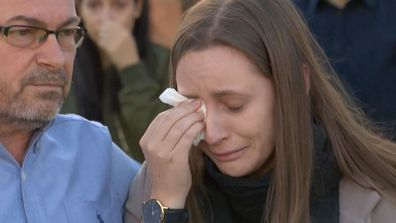 Borce Ristevski and Sarah speak to the media after Karen's disappearance in 2016.