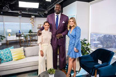 Shaquille O'Neal, TV host, Rocsi Diaz, Carissa Culiner, E! News, Daily Pop, interview