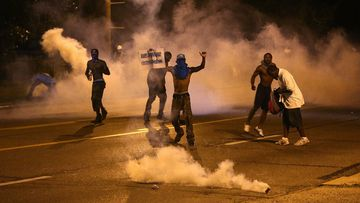 The riots have entered a second week after the August 9 shooting of black teen Michael Brown. (AAP)