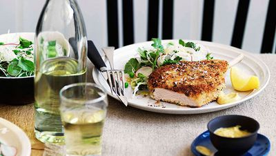 "<a href=""http://kitchen.nine.com.au/2016/05/16/15/49/cotoletta-of-freerange-pork-with-italian-coleslaw"" target=""_top"">Cotoletta of free-range pork with Italian coleslaw<br> <br> </a>"